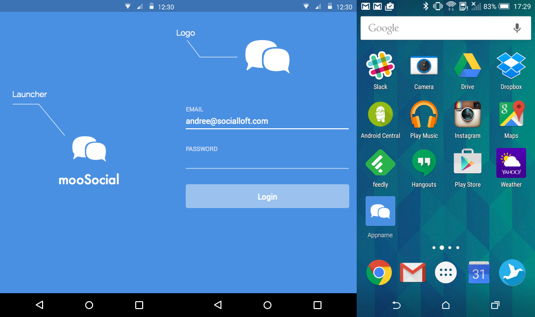 mooSocial android App Publish required information